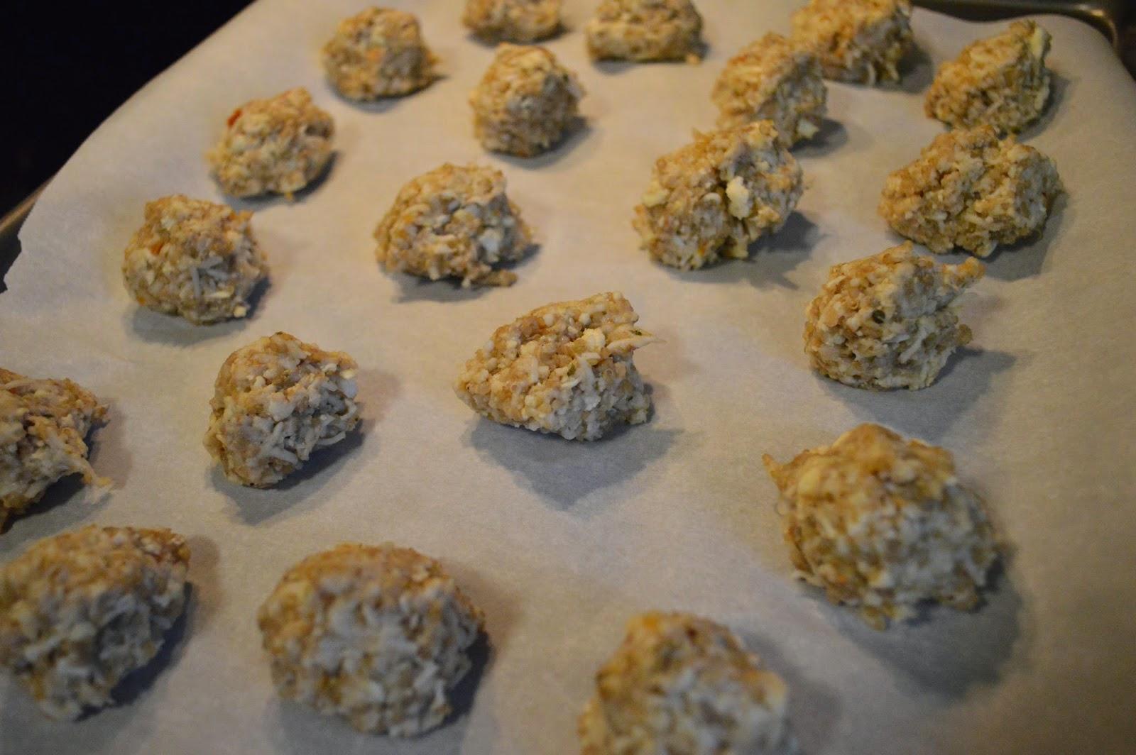 Quinoa Balls with Cauliflower and Cheese